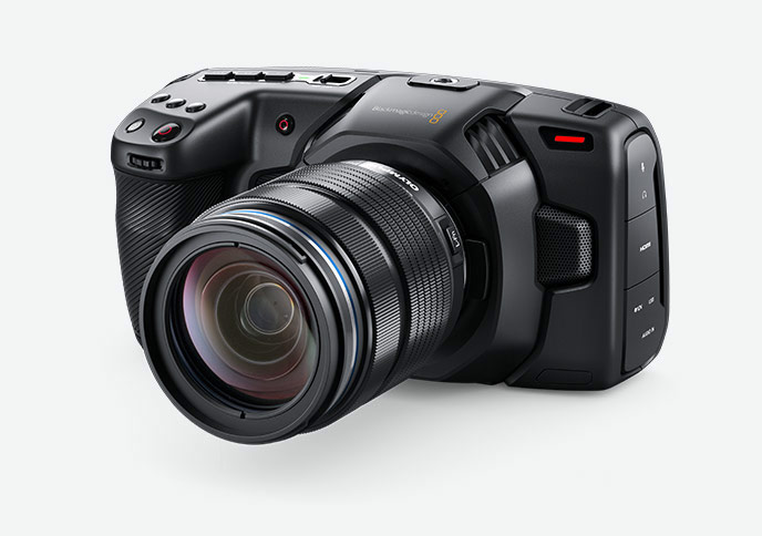 Product image of a mirrorless digital video camera